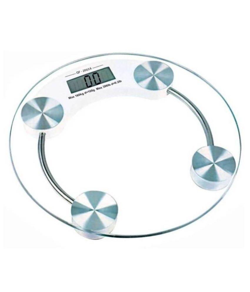 I-MAS Personal Weight Machine 8mm Thick Round Transparent Glass Exact_WS09