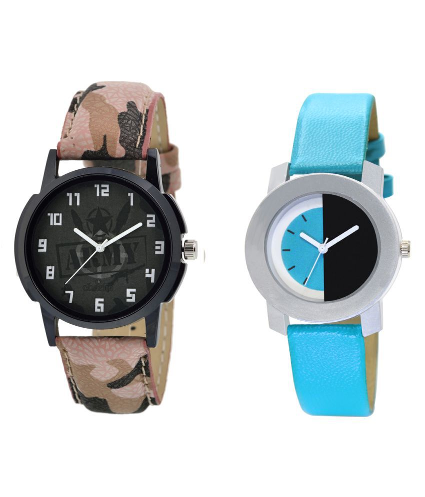 MF Set Of 2 Attractive And Unique Designer Watches For Boys And Girls