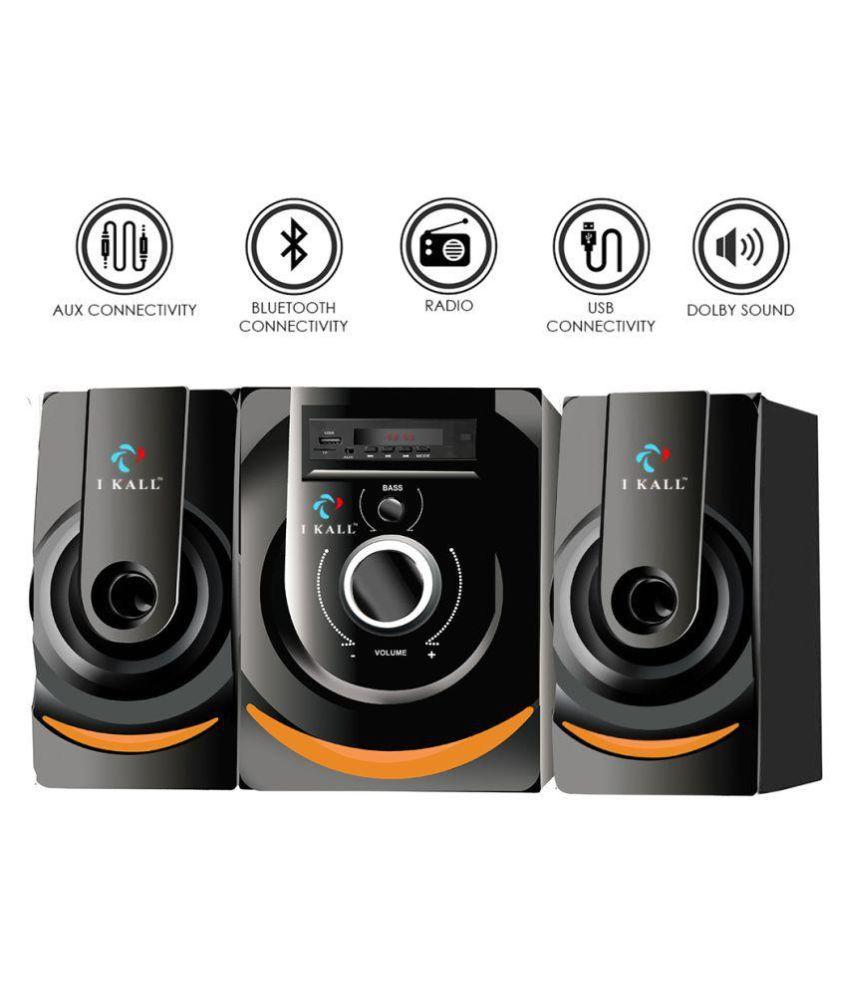 I Kall IK-2 2.1 Bluetooth Multimedia Speakers For Laptop, Desktop, Mobiles MP3/MP4