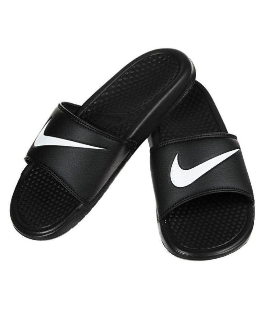 Dialecto Rayo restaurante  NIKE flip flop slippers Black Slide Flip flop Price in India- Buy ...