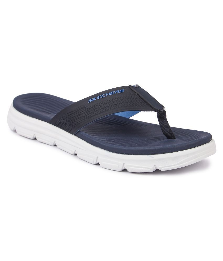 88bc75c64e5 Skechers Navy Daily Slippers