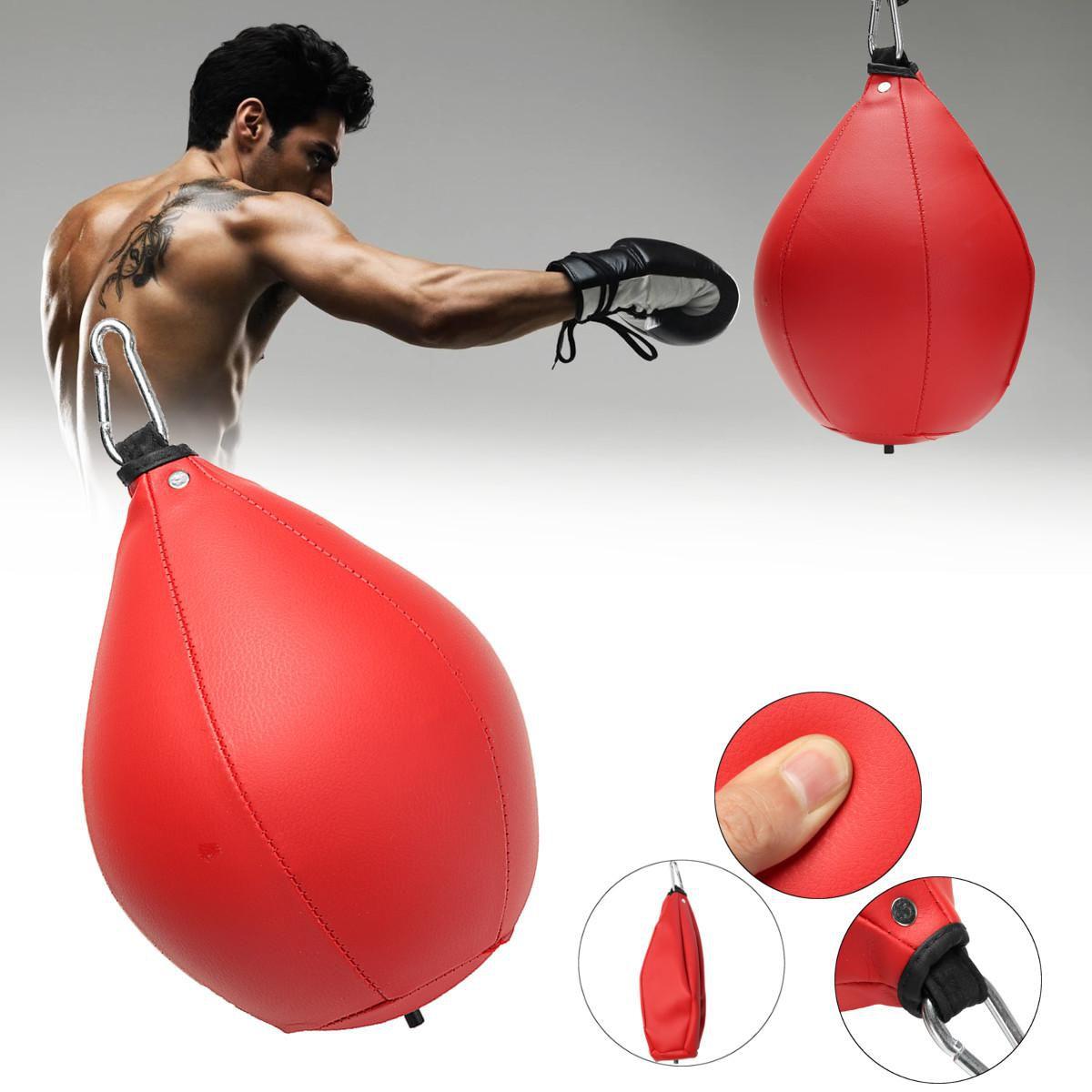 Desktop PU Punching Bag Speed Ball Stress Buster Adult Sport Boxing Training