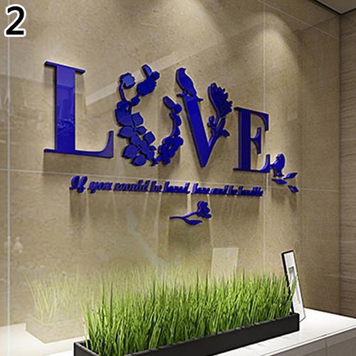 Modern 3d Love Letter Quote Flower Bird Wall Sticker Mural Art Decal Home Decor Buy Modern 3d Love Letter Quote Flower Bird Wall Sticker Mural Art Decal Home Decor Online At