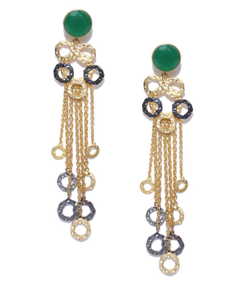Priyaasi Partywear Circular Tassel Earrings