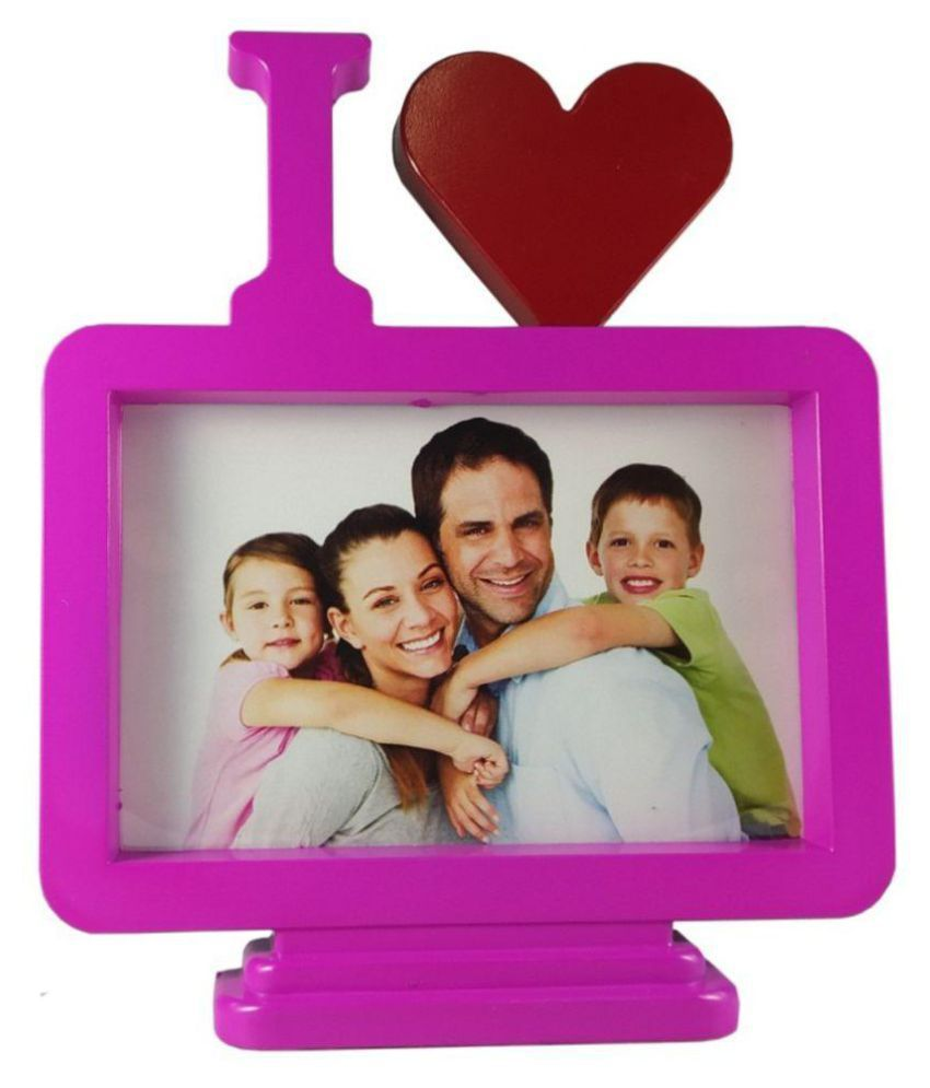 utkarsh MDF TableTop Pink Single Photo Frame - Pack of 1