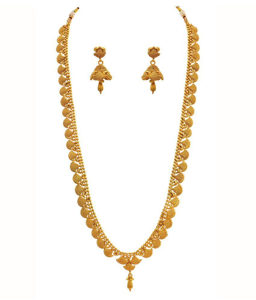 Jfl Jewellery For Less Copper Golden Opera Traditional 22kt Gold