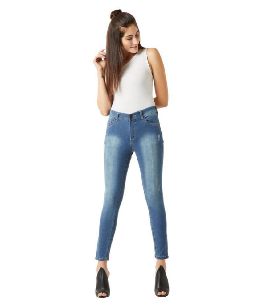 Miss Chase Cotton Jeans - Blue