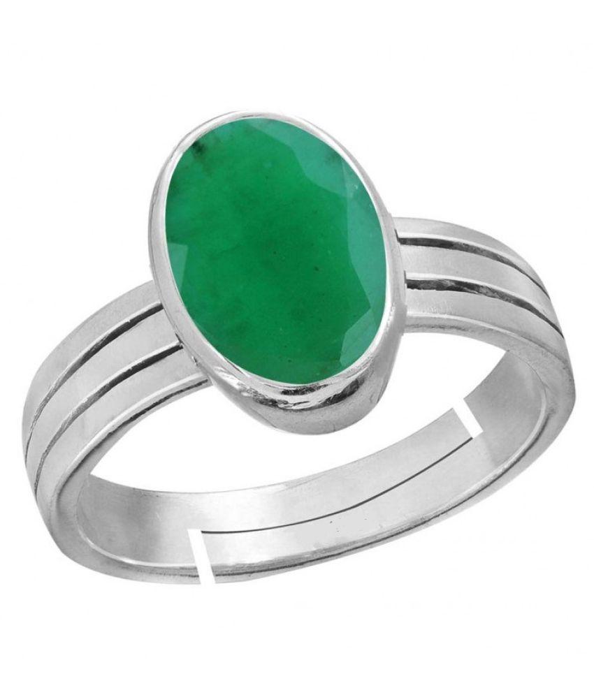 100% Original stone Emerald Ring  Lab Certified Stone Panna 5.25 Ratti  Stone Ring BY CEYLONMINE