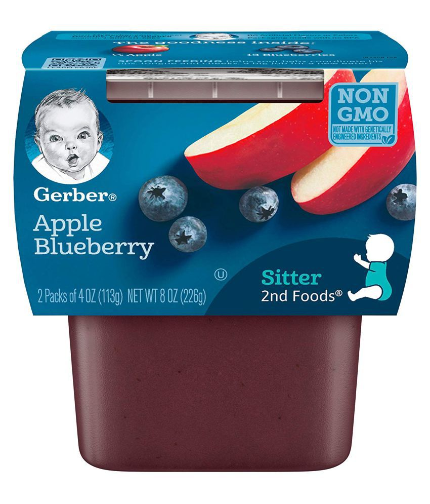 Gerber Apple Blueberry Snack Foods for Under 6 Months ( 452 gm ) Pack of 2