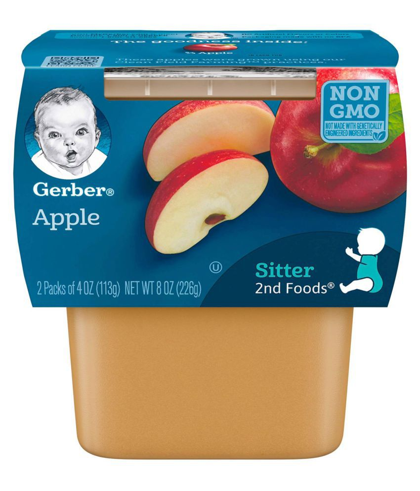 Gerber Apples Snack Foods for Under 6 Months ( 452 gm ) Pack of 2