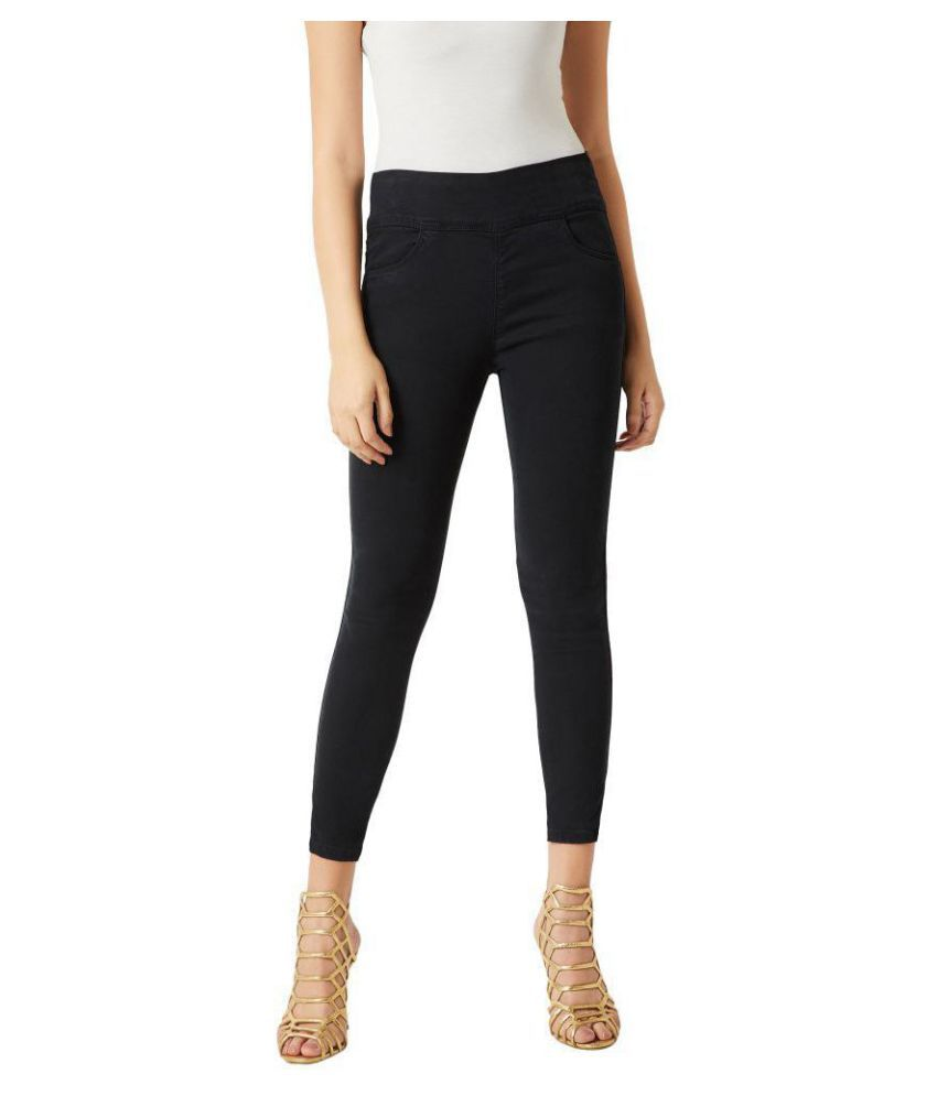 Miss Chase Denim Jeggings - Black