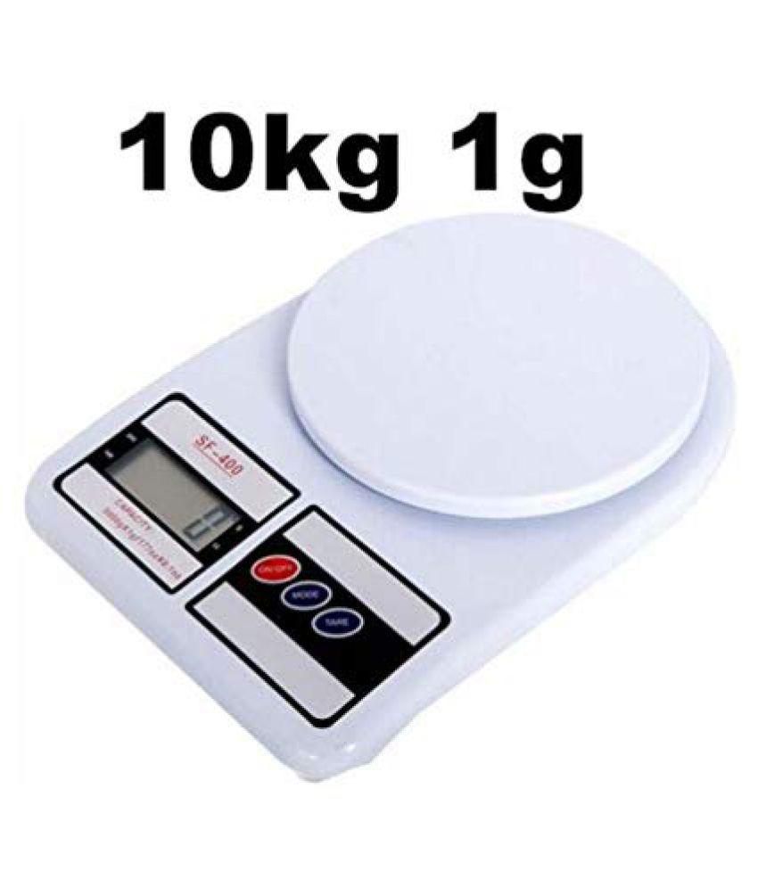 nshiva Nshiva Electronic Digital LCD Kitchen Weight Scale Machine Cap-10 Kgs. SF-400 1453