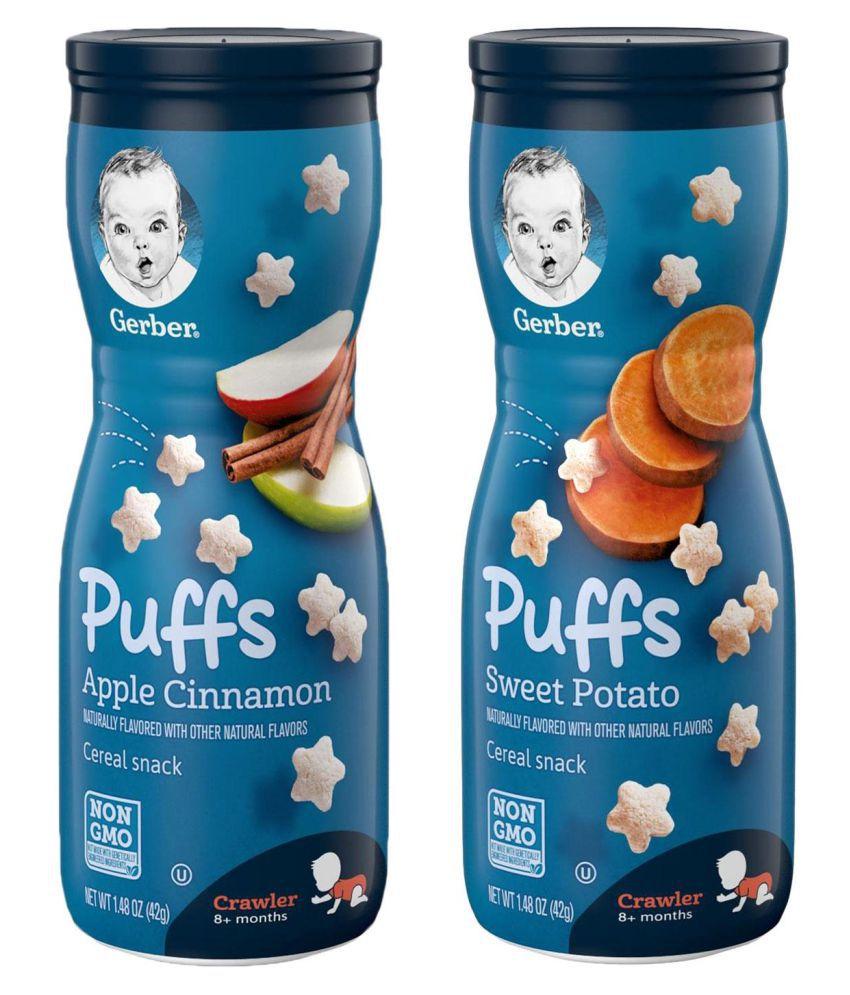 Gerber Apple Cinnamon + Sweet Potato Snack Foods for Under 6 Months ( 84 gm ) Pack of 2