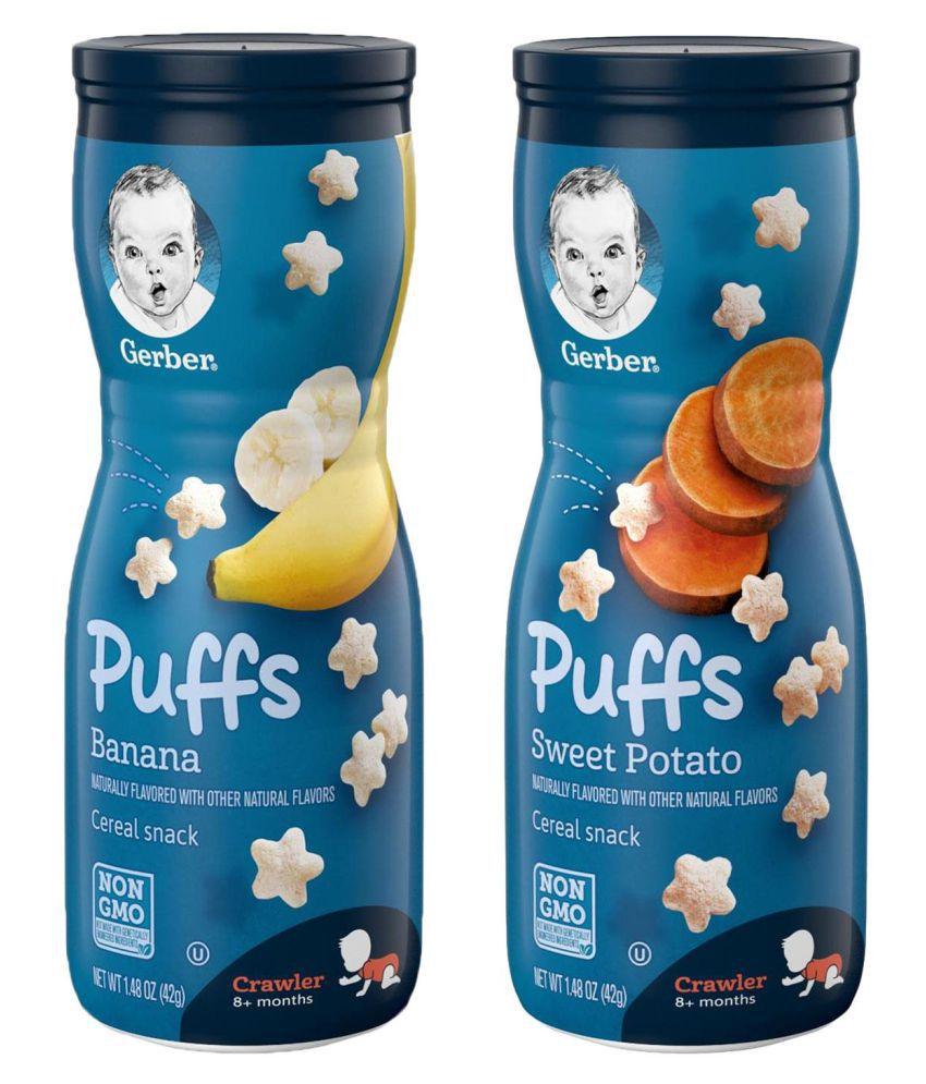 Gerber Banana + Sweet Potato Snack Foods for Under 6 Months ( 84 gm ) Pack of 2