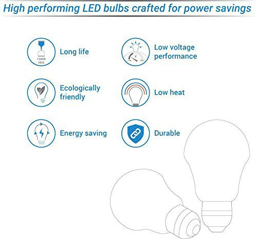 Affection 9W LED Bulb Cool Day Light - Pack of 2