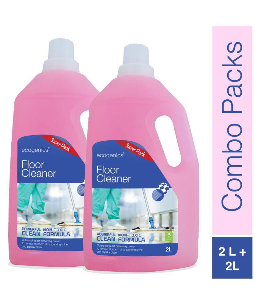 ECOGENICS INDIA Disinfectant Floor Cleaner Mild Fragrance 4000 ml Pack Of 2