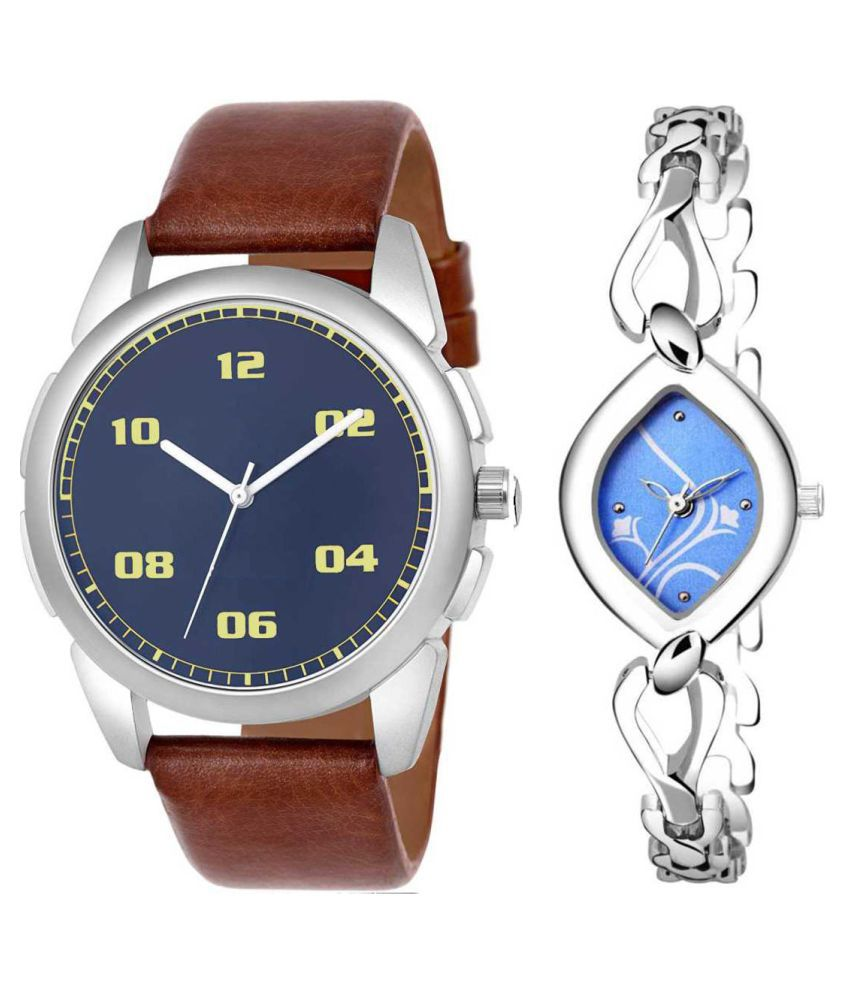 Herita Enterprise Blue Dial  New Stylish Couple Watch For Men And Women 281