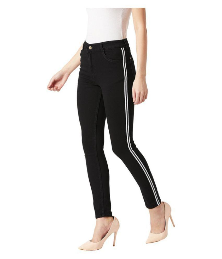 Miss Chase Cotton Jeans - Black