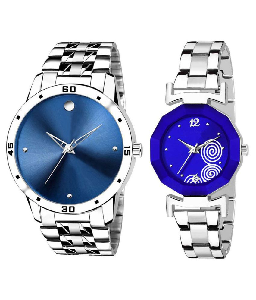 Herita Enterprise Blue Dial  New Stylish Couple Watch For Men And Women 306
