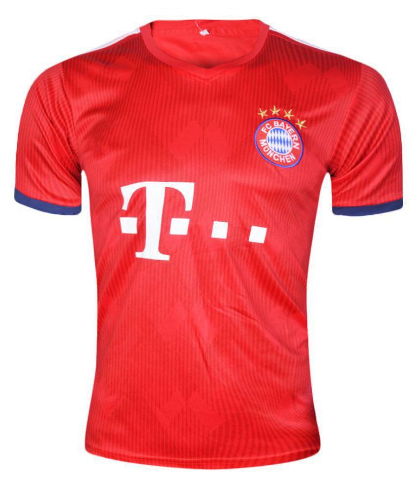 Bayern Munich Red Polyester Jersey