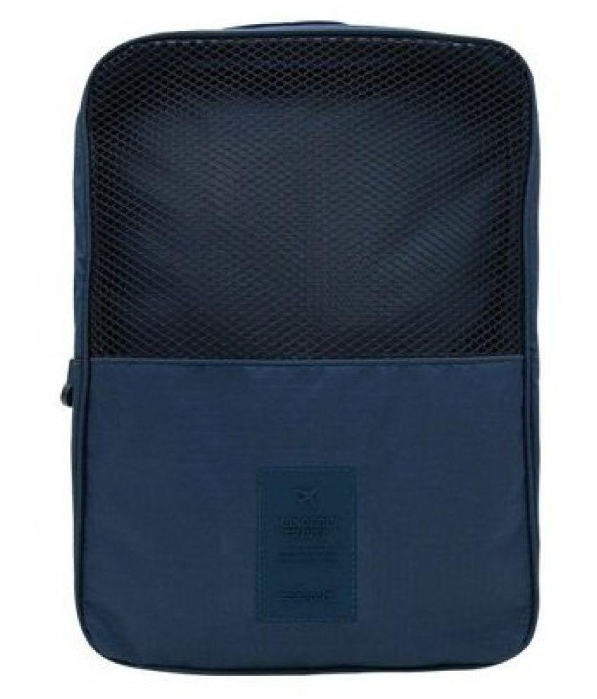 Everbuy Blue 3 Layers Travel Shoes Bag Case Organizer