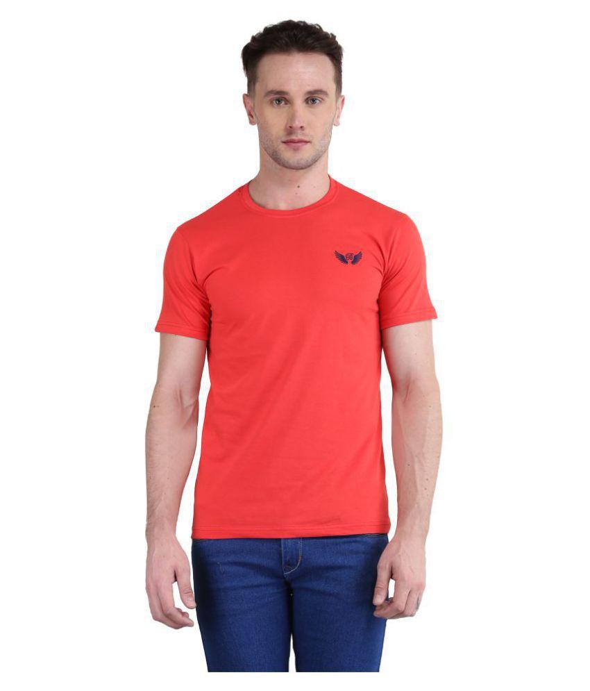 Bravezi Red Half Sleeve T-Shirt