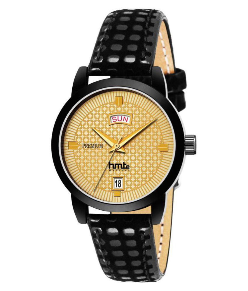 HMTe Leather Round Womens Watch