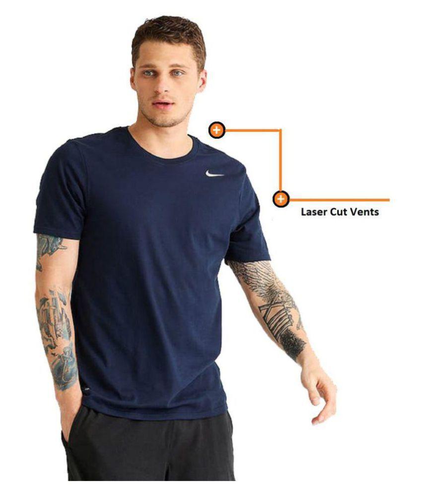 Nike Navy Half Sleeve T Shirt Buy Nike Navy Half Sleeve T