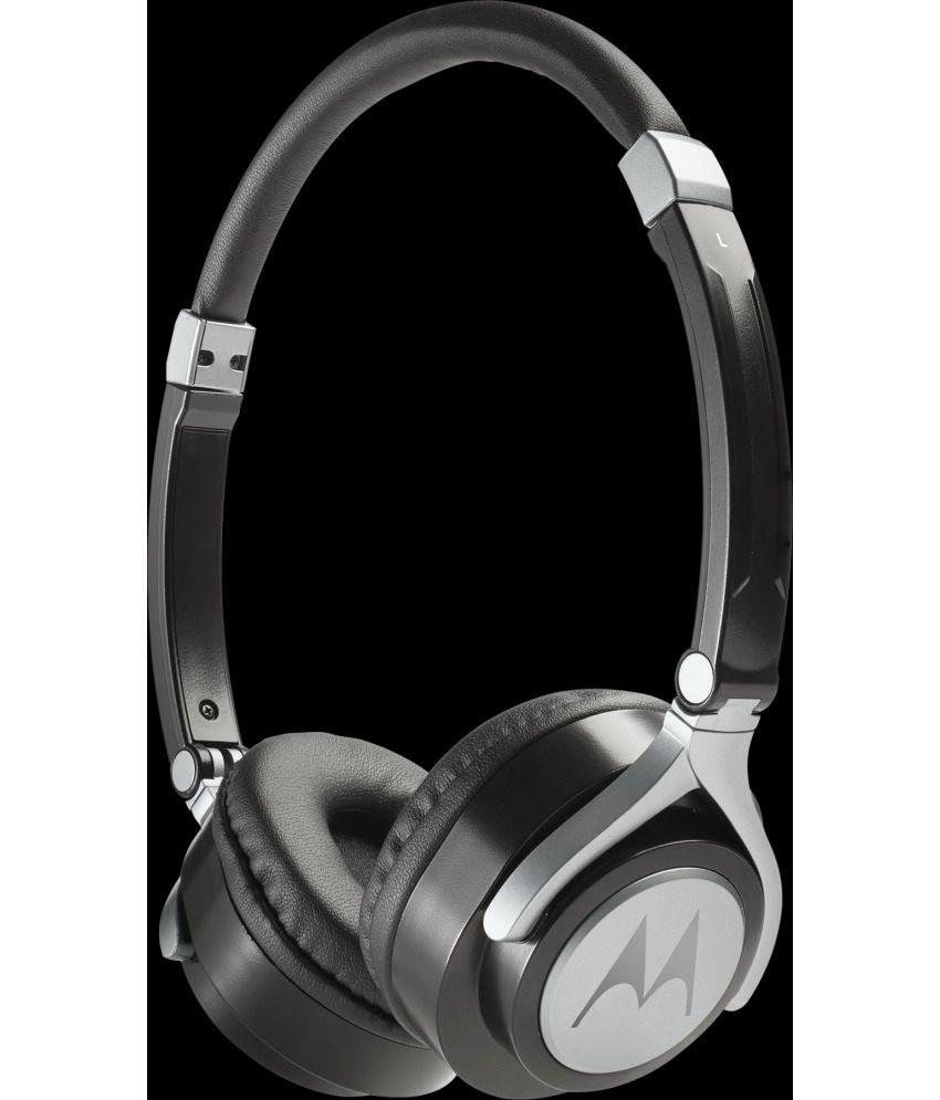 97017431386 Motorola Pulse 2 Over Ear Wired Headphones With Mic (Black) - Buy ...