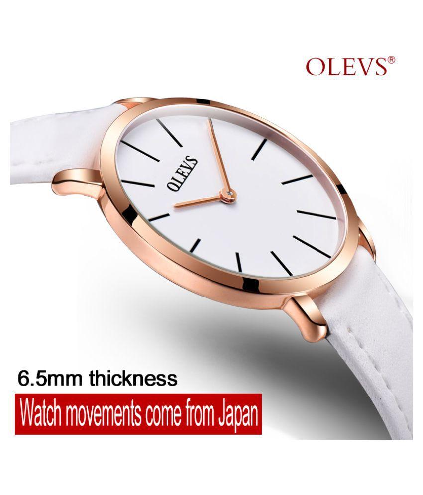 OLEVS Ultrathin Watch waterproof Smart Watch Women Watch Quartz Leather
