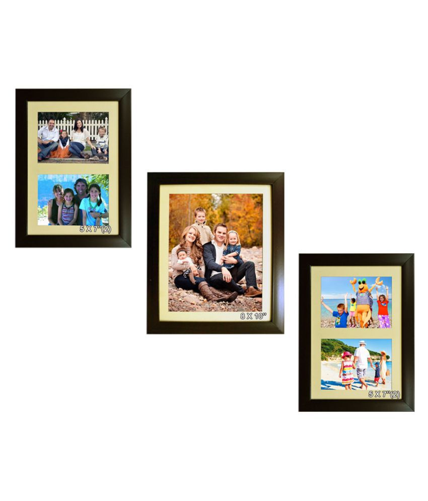 Trends on Wall Acrylic Brown Photo Frame Sets - Pack of 3