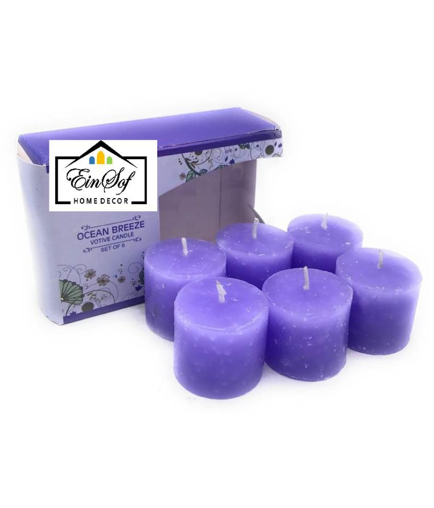 Ein Sof Purple Votive Candle - Pack of 6