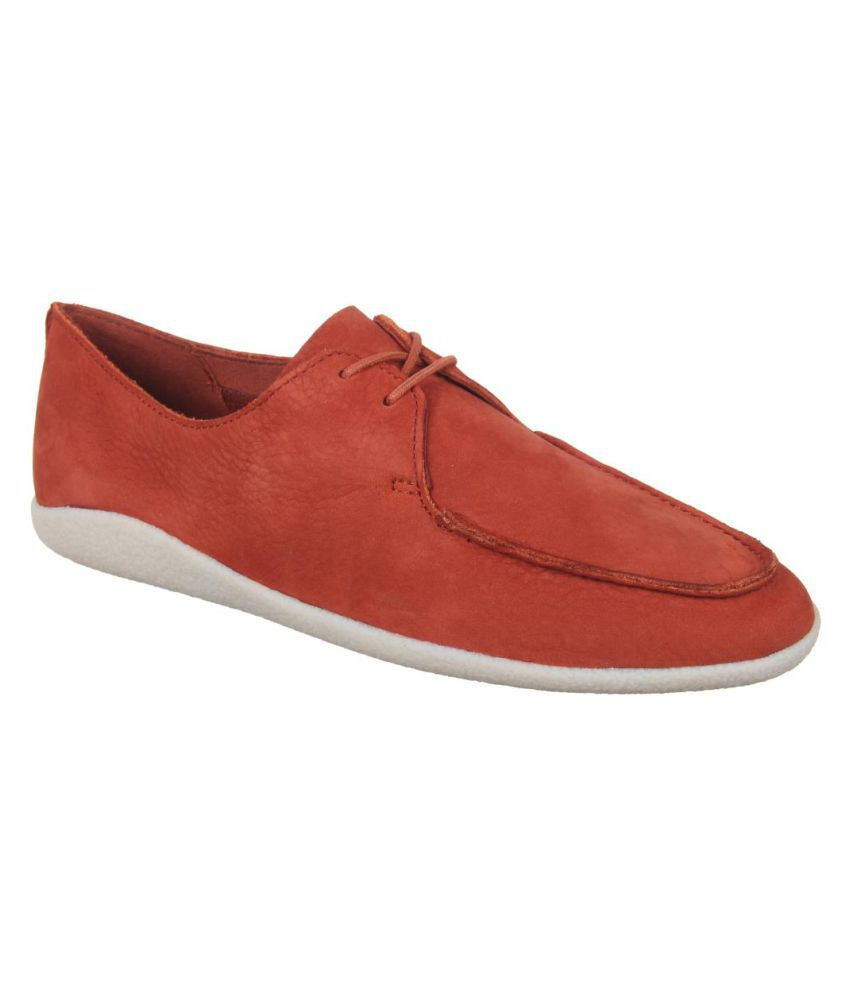 Clarks Red Casual Shoes