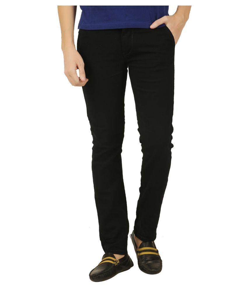 Sparking Black Slim -Fit Flat Trousers