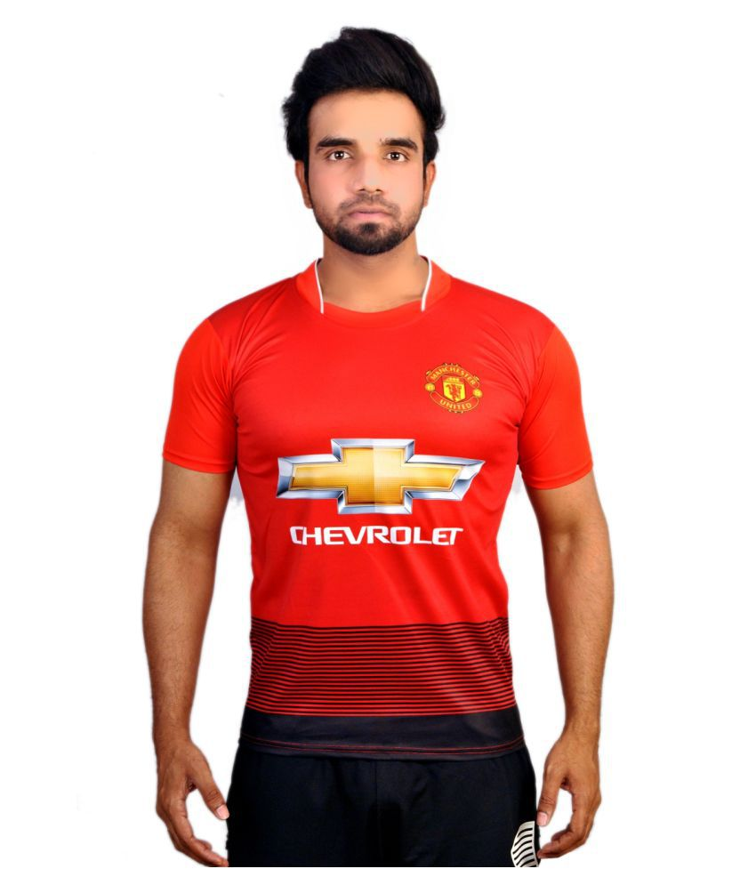 purchase cheap 1472f ab798 Manchester United Jersey Red Cotton Blend Jersey Single Pack ...