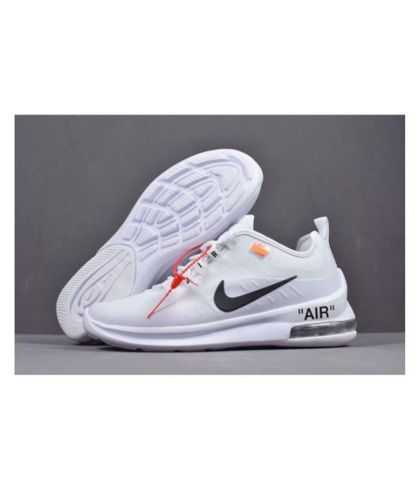 detailed look 39123 d46a5 Nike AIR MAX AXIS OFF WHITE 2018 White Running Shoes