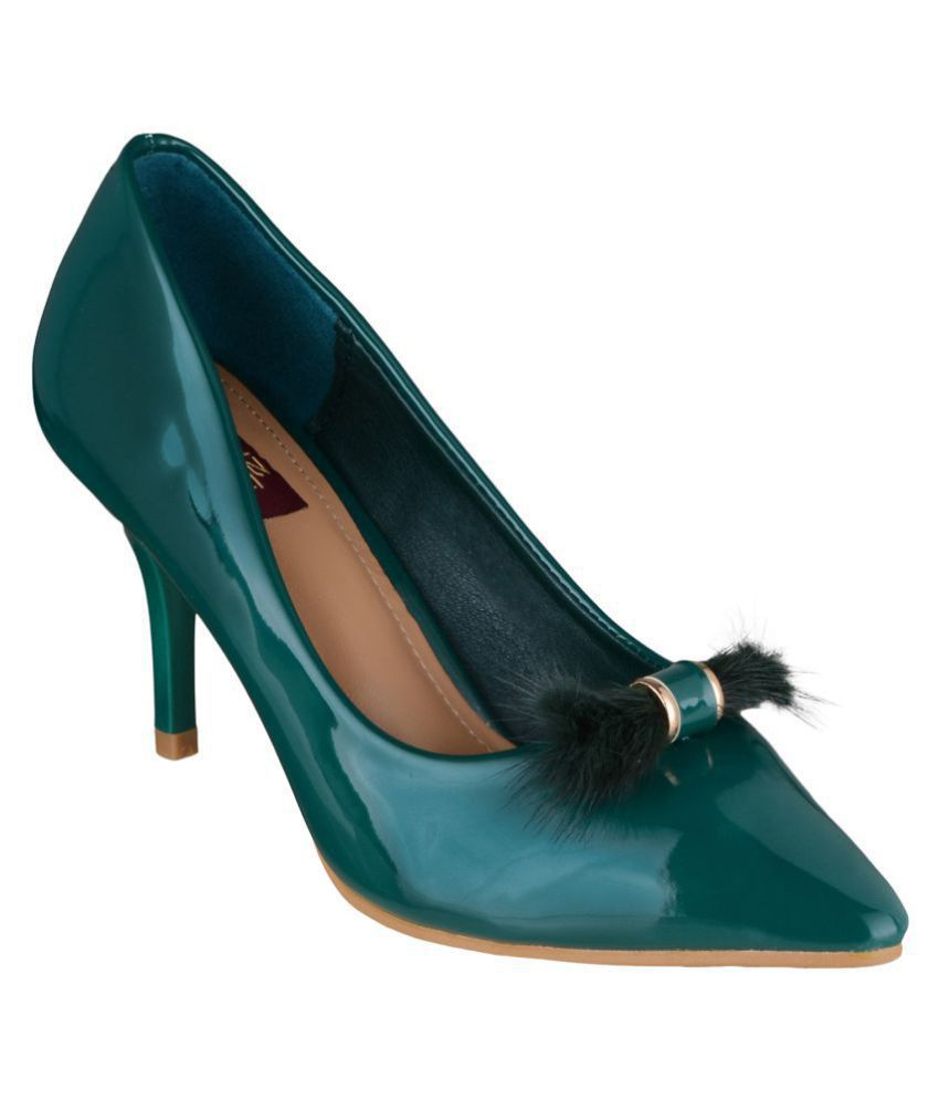 Shuz Touch Green Stiletto Heels