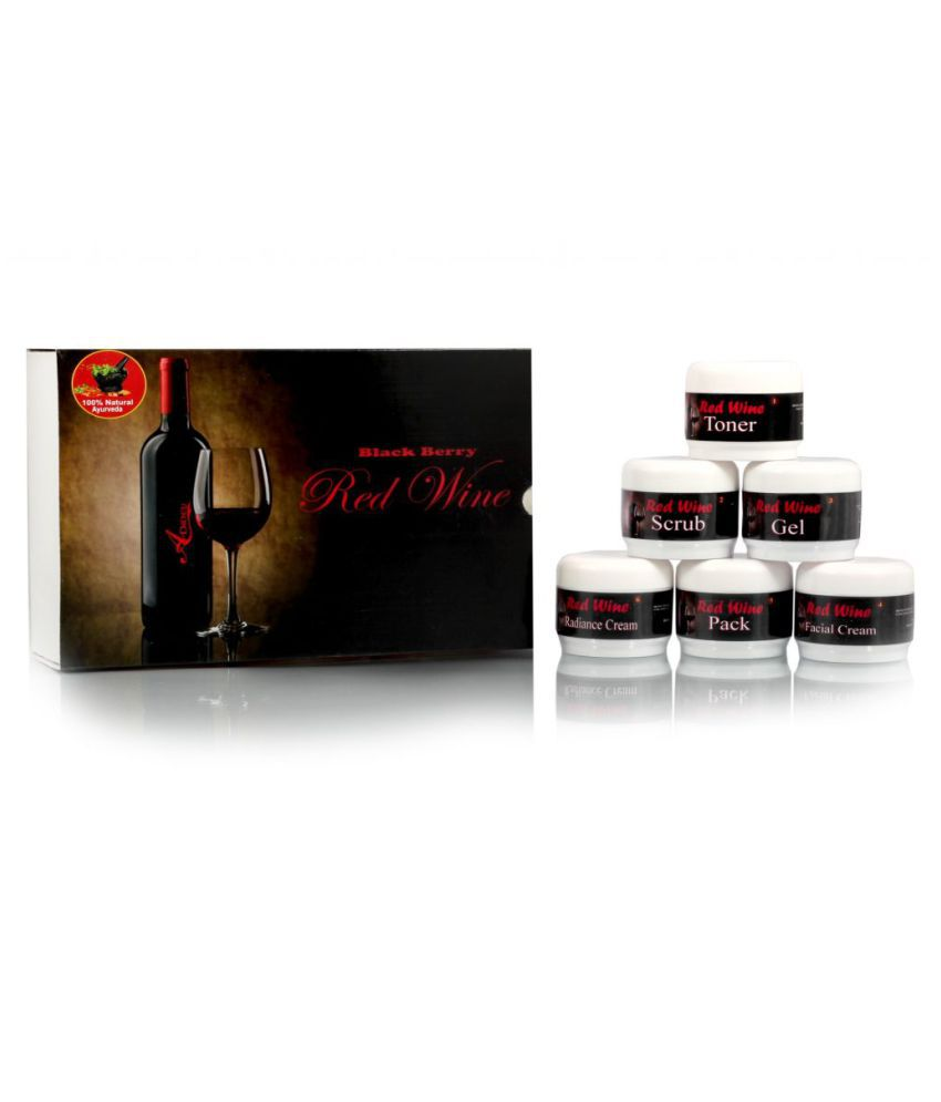 Adidev Herbals  Skin Brightening Black Berry Red Wine Facial Kit 250 gm