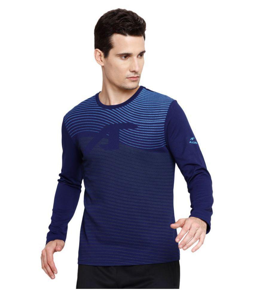 Alcis Navy Polyester Terry Sweatshirt