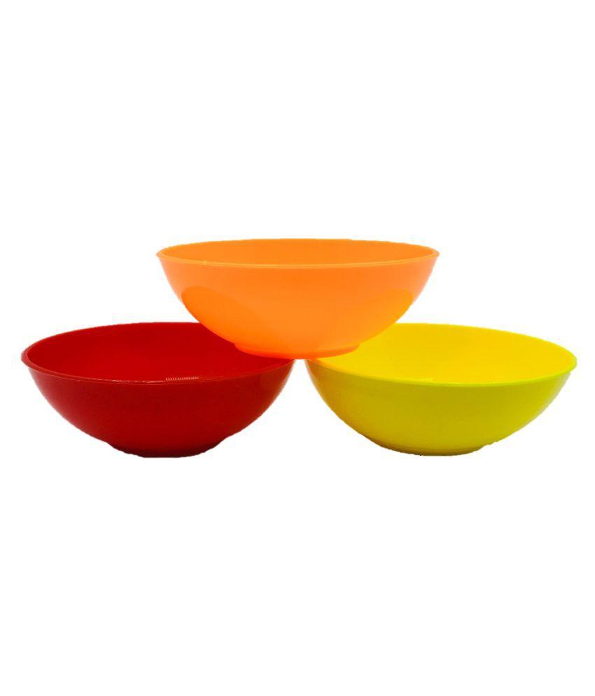 Influx 3 Pcs Plastic Soup Bowl 200 ml