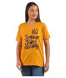 PrintOctopus Cotton Yellow T-Shirts