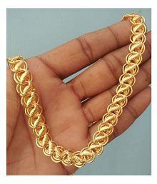 You Looks Impressive Gold Plated Lotus Brass Chain 20 inches Long For Boys And Men