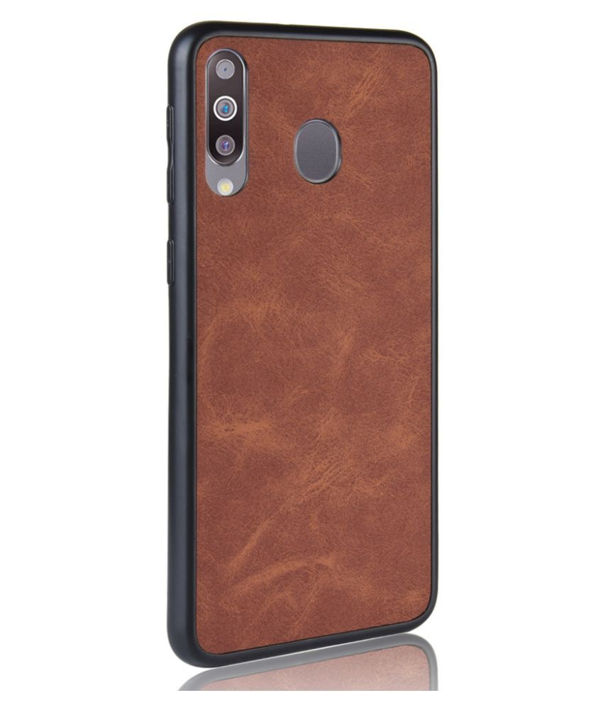 Samsung Galaxy M30 Plain Cases iMob - Brown