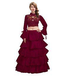 309a71fddf Maroon Lehenga: Buy Maroon Lehenga for Women Online at Low Prices in ...