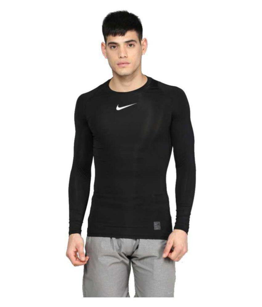 Nike Black Cotton Lycra Jersey