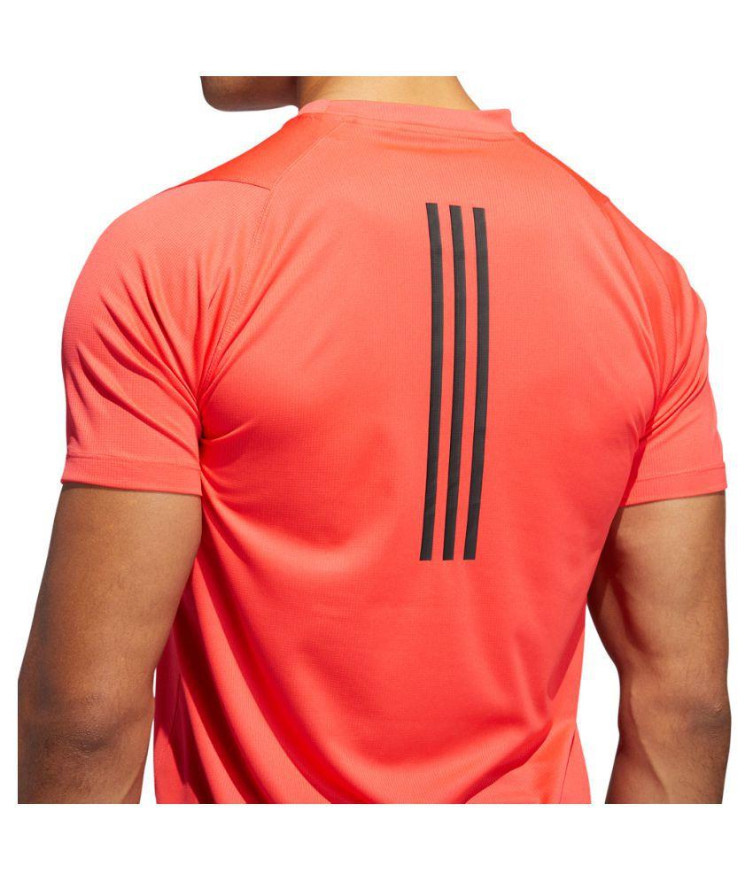 Adidas Rough Red Polyester Viscose T-Shirt