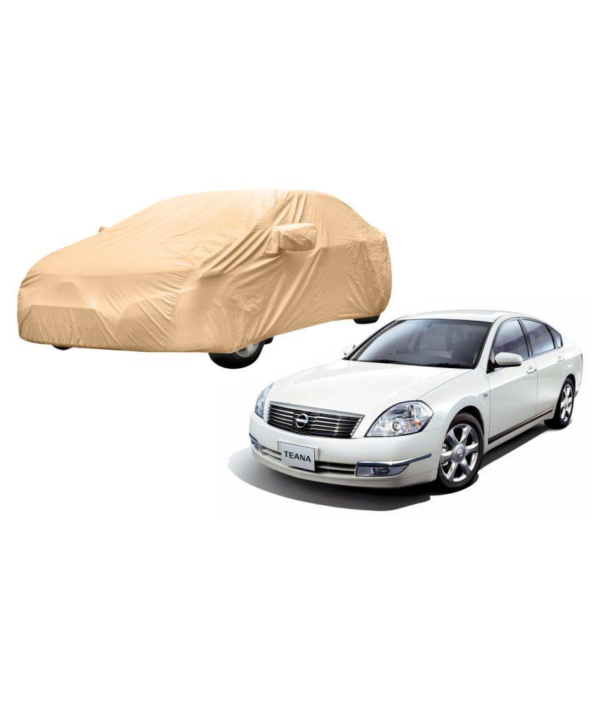 Alexus Car Cover for Nissan Teana (Mirror Pockets) (Beige)
