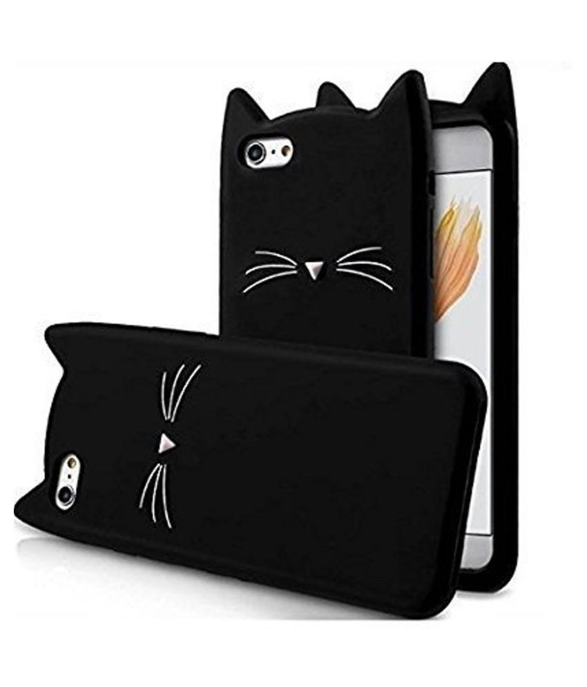 Apple iPhone 6 Soft Silicon Cases FancyArt - Black Cut Cat Back Cover