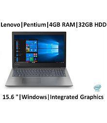 Lenovo ideapad 330 81D100JCIN 15.6-inch Laptop (Pentium/4GB/500GB/Windows 10 Home/Integrated Graphics), Onyx Black