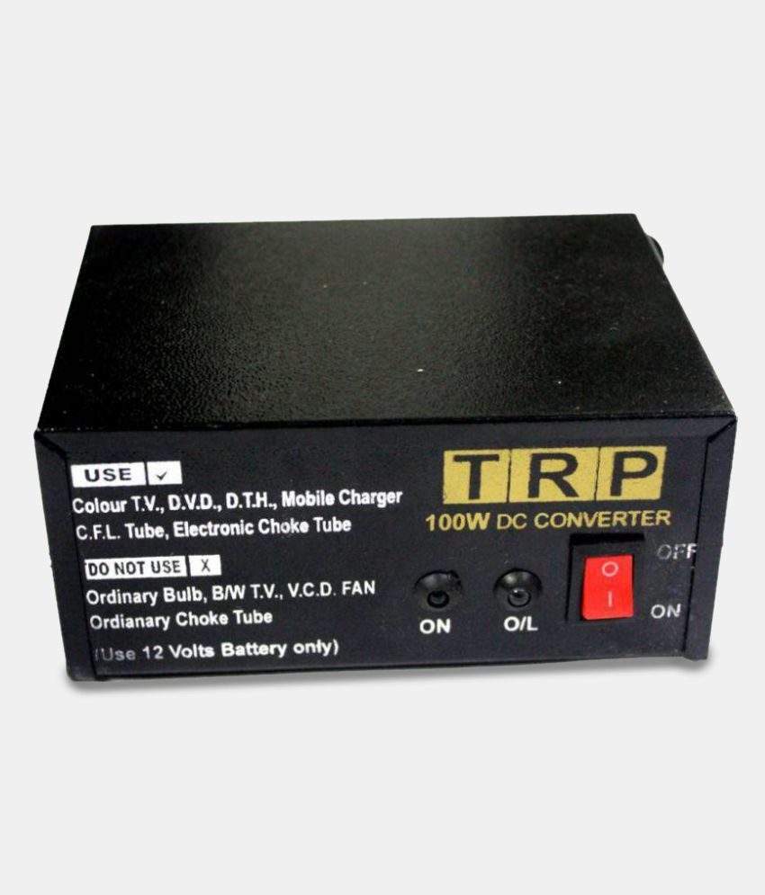 12V DC Power To 220V AC Converter for Home, Car, Solar Panel, Color Tv, Dth  Box, Mobile Charger, Cfl (100W)